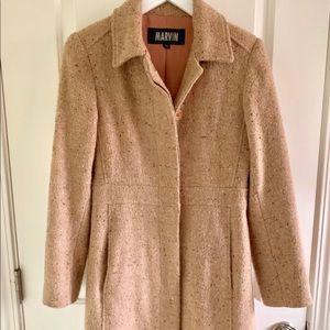 Long beige winter coat